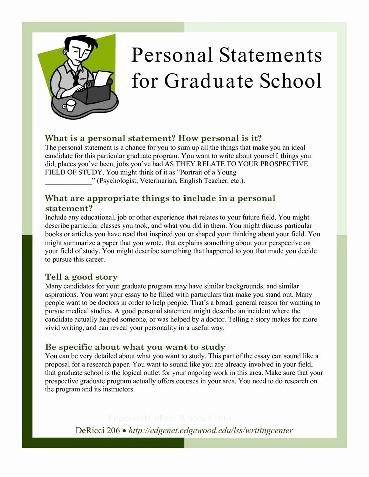 Written Statement Sample Elegant Grad School Essays Samples Graduate School Statement