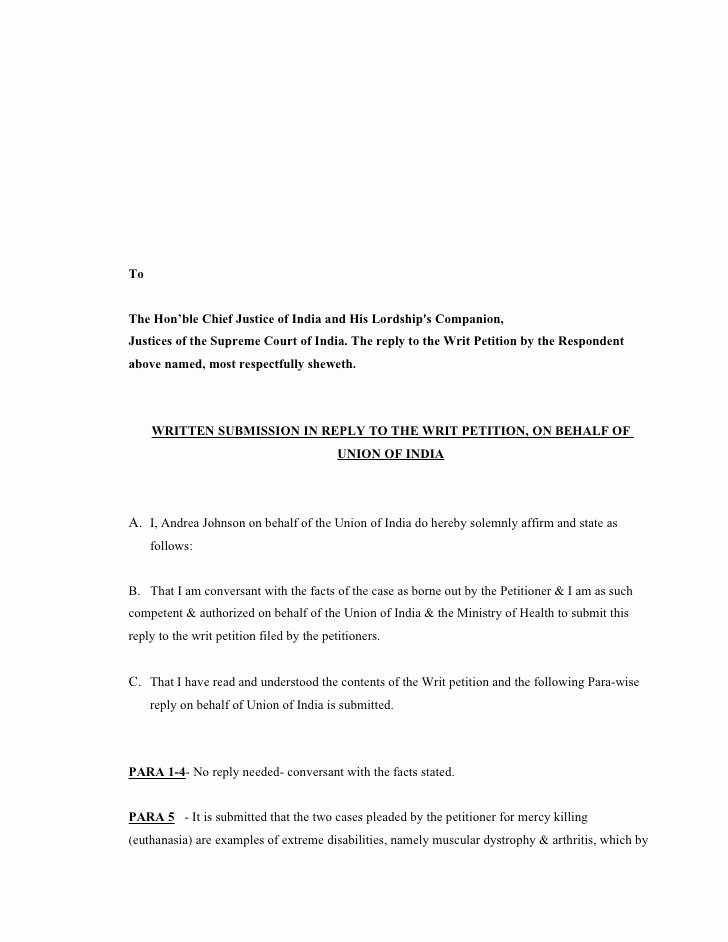Written Statement Templates Lovely Case Study & Moot Written Statement Behalf Union