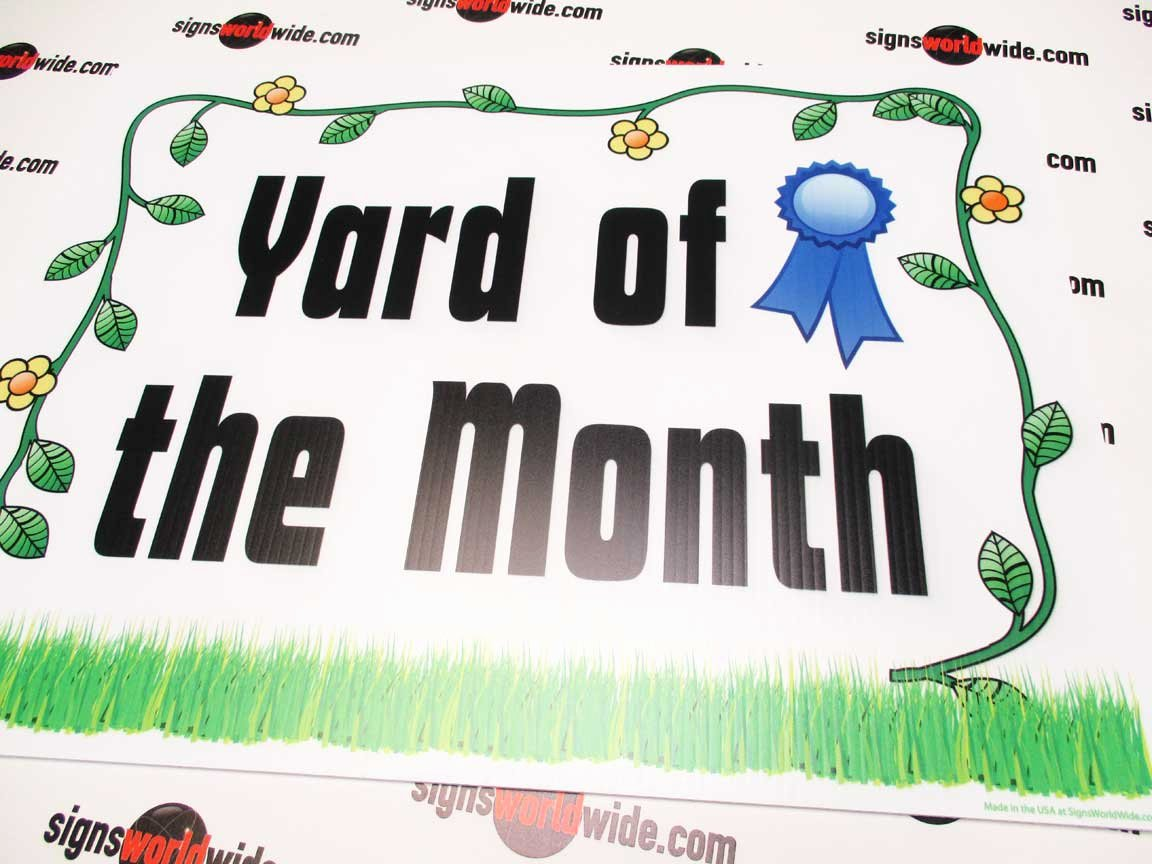 "Yard Of the Month Sign Template Awesome Buy Our ""yard Of the Month"" Flower Border 18 X 24 Sign"