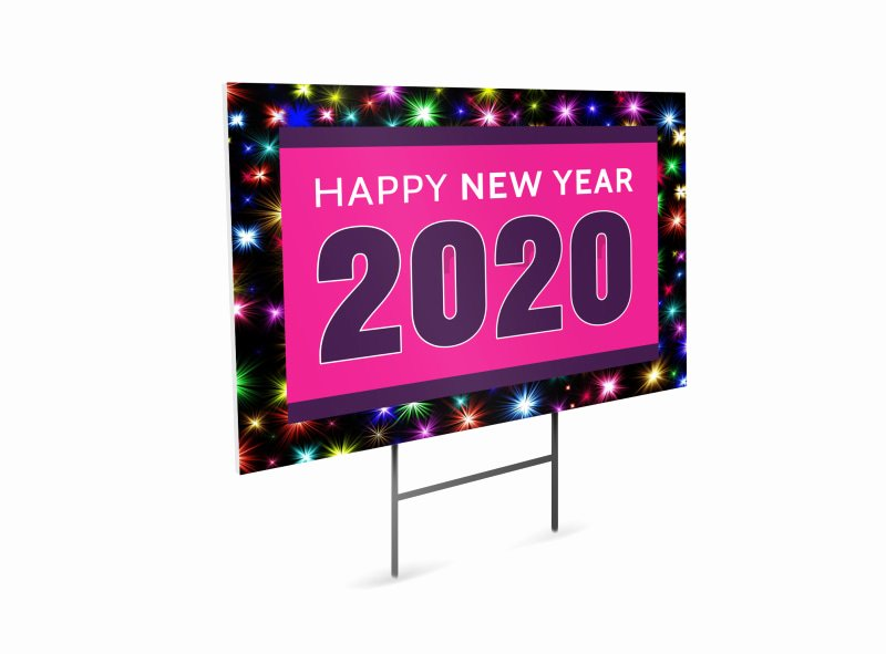 Yard Of the Month Sign Template Beautiful New Year Yard Sign Template