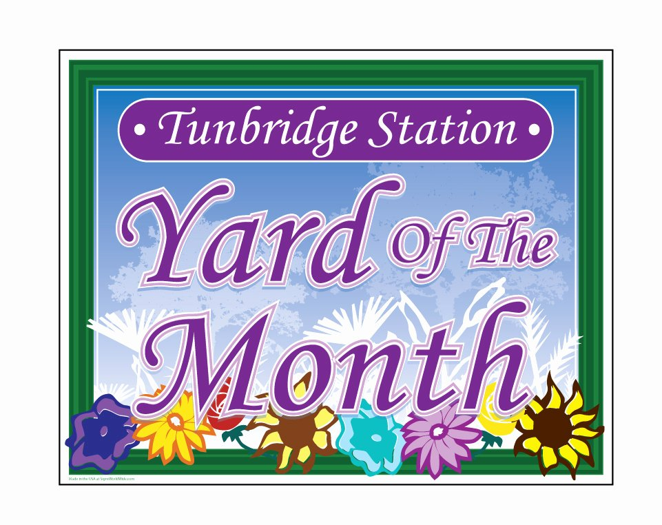 "Yard Of the Month Sign Template Best Of Buy Our ""tunbridge Station Yard Of the Month"" Sign From"