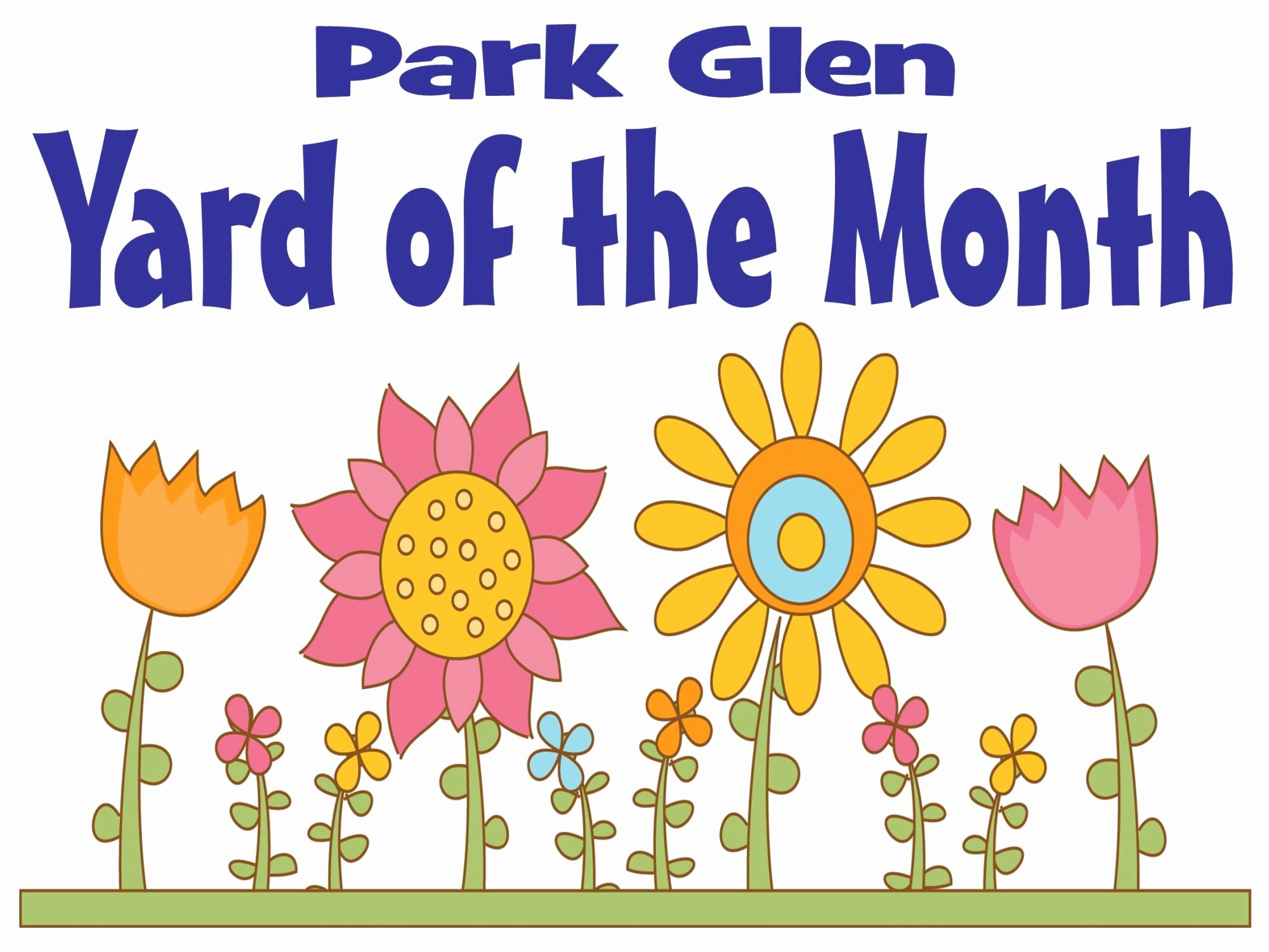 Yard Of the Month Sign Template Elegant Park Glen Neighborhood association fort Worth