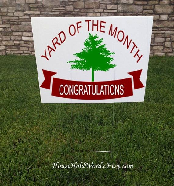 Yard Of the Month Sign Template Inspirational Yard Of the Month Yard Sign 24 X 18 Corrugated Yard Signs