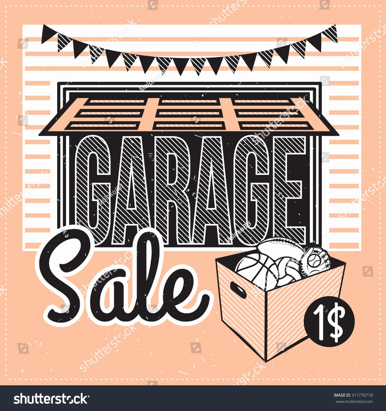 Yard Of the Month Sign Template Unique Garage Yard Sale with Signs Box and Household Items