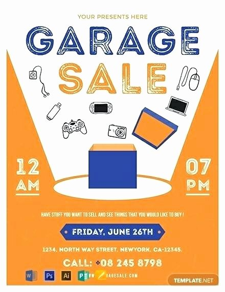Yard Sale Template Microsoft Word Fresh Garage Sale Flyer Template Free