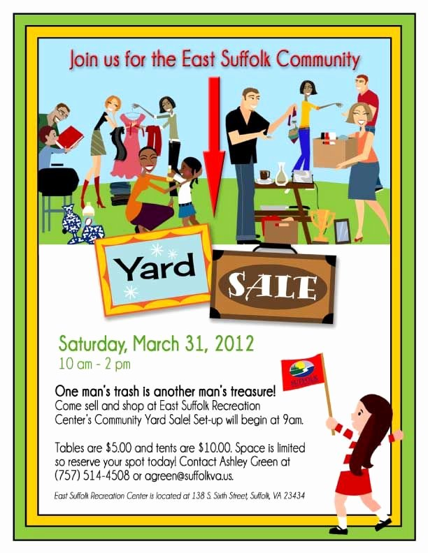 Yard Sale Template Microsoft Word Inspirational 14 Garage Sale Flyers 5
