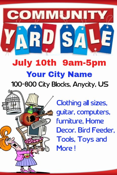 Yard Sale Template Microsoft Word Lovely Munity Yard Sale Template