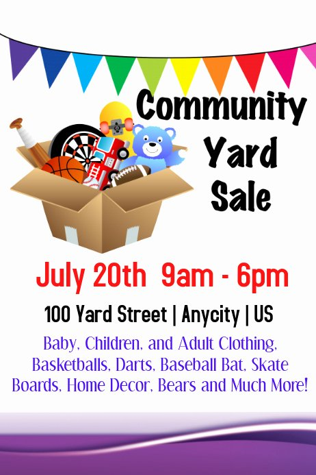 Yard Sale Template Microsoft Word New Munity Yard Sale Template