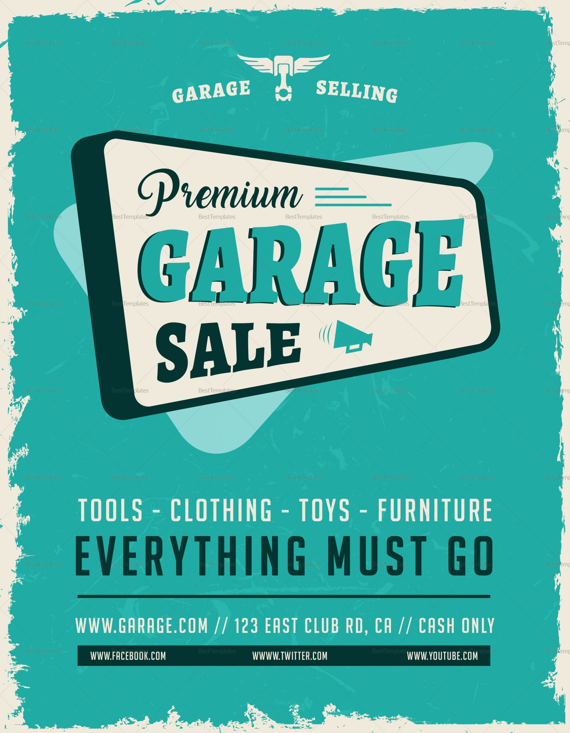 Yard Sale Template Microsoft Word Unique Garage Sale Flyer Design Template In Word Psd Publisher
