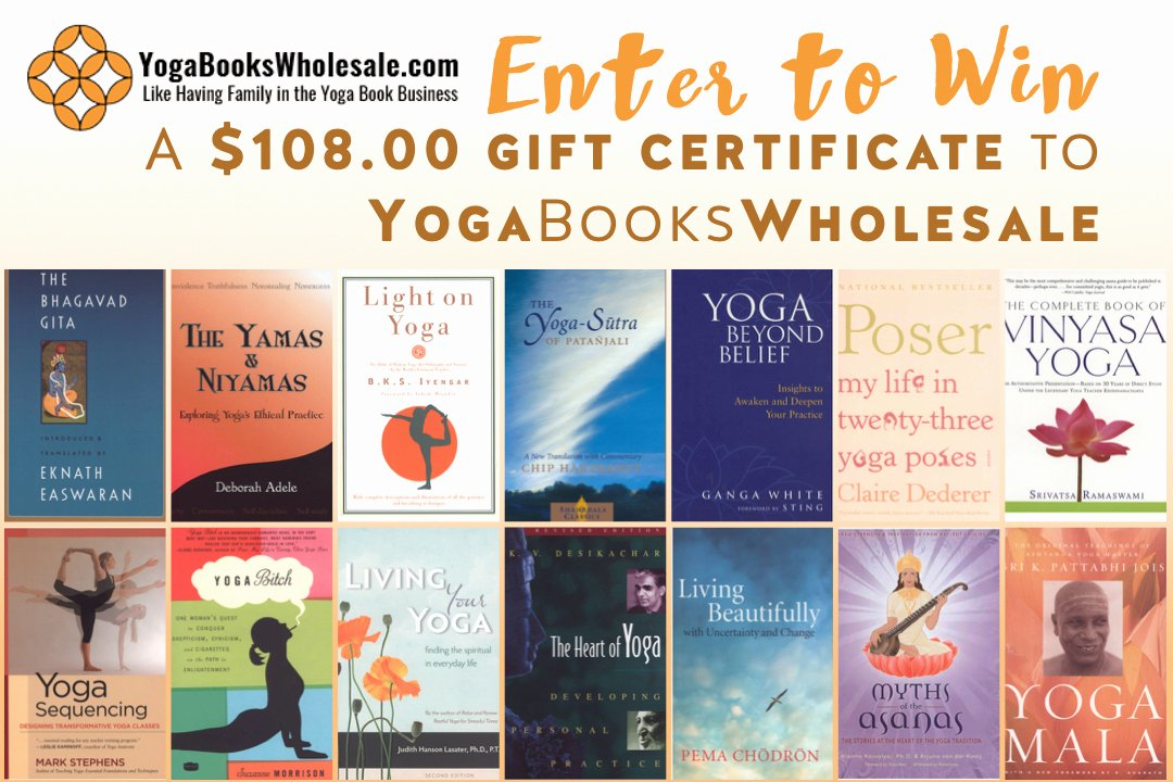 Yoga Gift Certificate Template Free Elegant January Giveaway Yogabookswholesale Gift Certificate