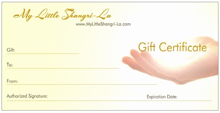 Yoga Gift Certificate Template Free Fresh Templates for Gift Certificates for Reiki