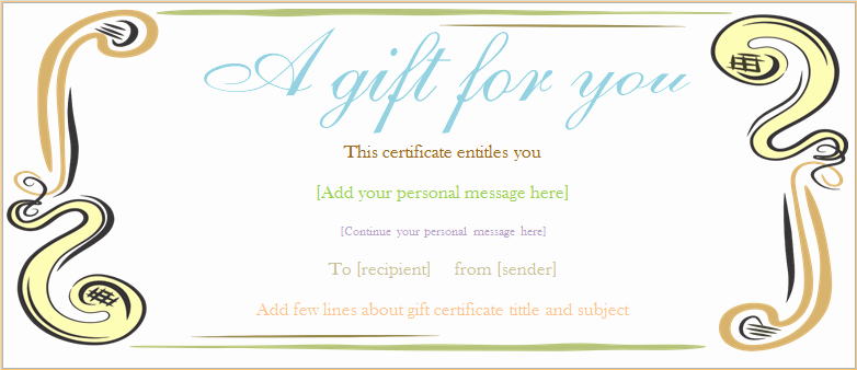 Yoga Gift Certificate Template Free New A Gift for You Gift Certificate Template