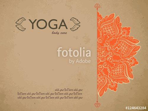 "Yoga Gift Certificate Template Free Unique ""yoga T Certificate Template with Mandala and Text"