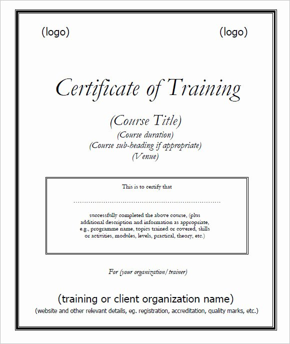 Yoga Teacher Training Certificate Template Beautiful 30 Training Certificate Templates – Samples Examples format