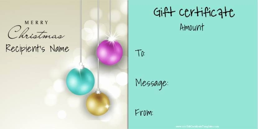 Younique Gift Certificate Template Fresh Christmas Gift Certificate Templates that Can Be