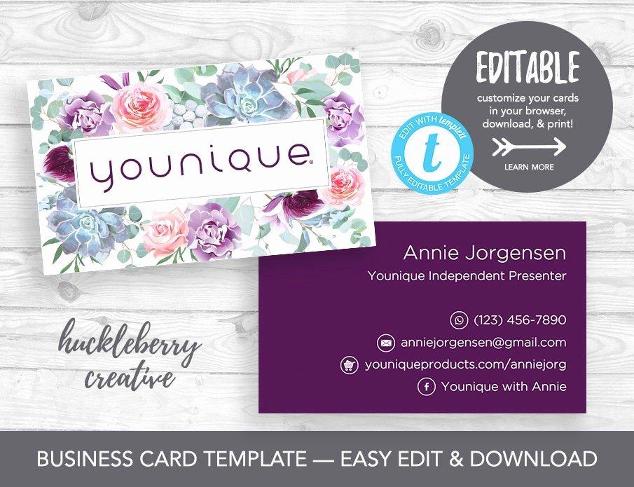 Younique Gift Certificate Template Unique Younique Business Cards Template Younique Cosmetics 3 5x2