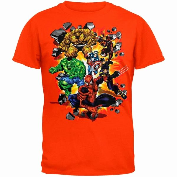 Zombie Prom Math Game Luxury Spider Man Marvel Heroes Burst T Shirt – Oldglory
